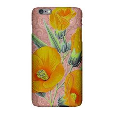 Orange Hibiscus iPhone Plus 6 Slim Case