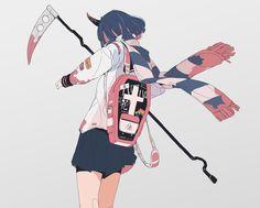Anime Girl Cute, Anime Art Girl, Manga Art, Art And Illustration, Pretty Art, Cute Art, Aesthetic Art, Aesthetic Anime, Arte Peculiar