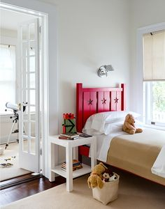 kids room, beautiful headboard colour