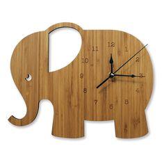 Elephant Wooden Wall Clock Nursery & Kids by NestAccessories Wall Clock Nursery, Do It Yourself Decoration, Wall Watch, Diy Clock, Wood Clocks, Diy Furniture Projects, Wood Ornaments, Baby Kind, Dose