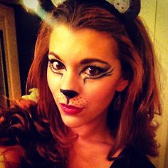 Cat make up for Halloween