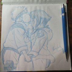 Desenho rápido #desenho #draw #drawing #sketch #sketchbook #naruto #hinata #narutouzumaki #art #artist #maolivre #anime #manga