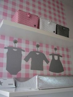 prachtige kleurencombinatie voor een meisjes babykamer - kamer, Deco ideeën