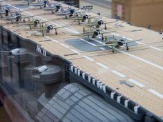 """IJN Aircraft Carrier """"Akagi"""" 1/100 scale #1E"""