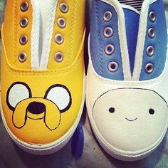 Adventure Time Shoes via Etsy