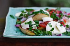 Grilled endive caprese salad by Health Green Kitchen