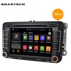 Quad Core 1024*600 2 Din Android 5.1 Car DVD GPS Navigation For VW GOLF Polo Bora Jetta Passat Tiguan Skoda Octavia Fabia TIGUAN