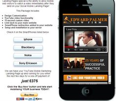 Law Firm Example http://dwmc.mobi/socialmobile/lawfirm/index.html