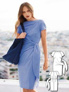 Short Sleeve Sheath Dress 03/2016 #108A http://www.burdastyle.com/pattern_store/patterns/short-sleeve-sheath-dress-032016?utm_source=burdastyle.com&utm_medium=referral&utm_campaign=bs-tta-bl-160222-BlueCrushCollection108A