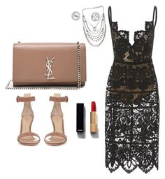 """Untitled #115"" by hillzbabez on Polyvore featuring Gianvito Rossi, Yves Saint Laurent and Chanel"
