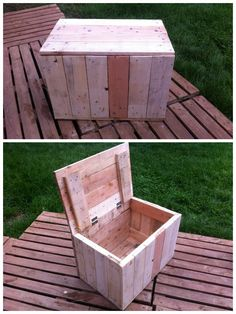 I made pallet boxes for keeping all kind of stuff inside. Idea sent by Ivan Dvoraček !