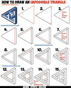 How to Draw an Impossible Triangle (Penrose Triangle) That Looks Woven in a Celtic Style Easy Step by Step Drawing Tutorial for Beginners