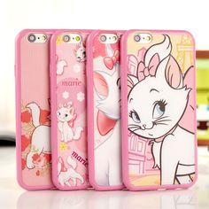 "Cute cartoon Relief Design tpu marie soft Case cover for Apple iphone6 plus 4.7"" #Romrichcaseshop"