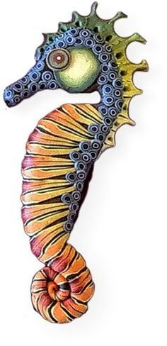 Polymer Clay Seahorse/puntine magnetiche di MaryAnneLoveless