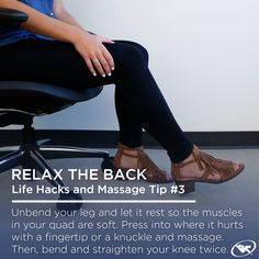 Massage Tip: Use fingertips or knuckles to get target #painrelief for sore muscles.
