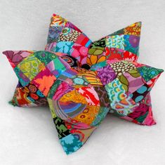 Star Pillow and Pincushion Tutorial Pattern : Patchwork Harlequin Star by La Todera
