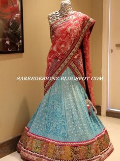 #Designer Chikankari Work Traditional #Half-Saree.