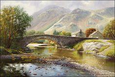 Lake District Landscape Prints Before the Rain Borrowdale by Paul Harley Landscape Prints, Watercolor Landscape, Landscape Paintings, Landscapes, Autumn Scenes, Cumbria, Lake District, Cool Places To Visit, Cool Art