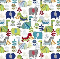 Dinosaur Fabric Flannel Fabric Kids Fabric Baby Fabric Green And Grey, Blue Grey, Dinosaur Fabric, Baby Fabric, Nursery Crib, Flannel, Sewing Projects, Quilts, Drawing