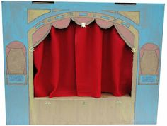 Puppet stage from cardboard box
