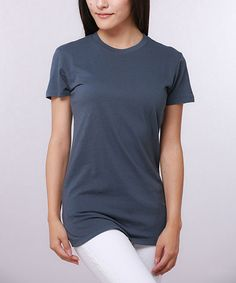 Another great find on #zulily! Indigo Layering Crewneck Tee by Pima Apparel #zulilyfinds
