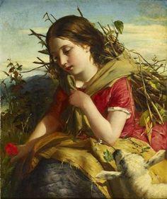 """Robert Inerarity Herdman, """"The Young Shepherdess"""""""