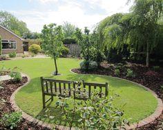 circular lawn garden designs google search