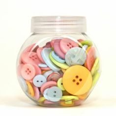 Hobbycraft Button Jar Pastel