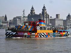 The Dazzle Ferry 'Snowdrop' coming into Seacombe Ferry Terminal Liverpool England, The World's Greatest, Rock Music, Photo Credit, River, Activities, City, Photography, Photograph