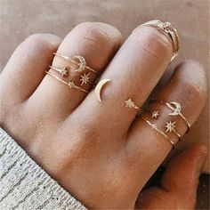 Cute Jewelry, Jewelry Gifts, Jewelry Accessories, Teen Accessories, Star Jewelry, Silver Jewelry, Jewellery, Vintage Rings, Vintage Jewelry