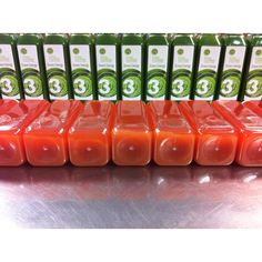 Getting our Energize cleanses all dressed up in labels for you!