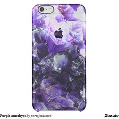 Purple amethyst uncommon clearly deflector iPhone 6 plus case ($47) ❤ liked on Polyvore featuring accessories and tech accessories