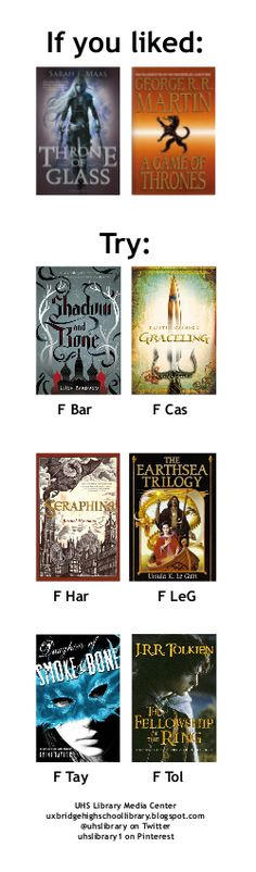 On the bookmark: books like THRONE OF GLASS and GAME OF THRONES.