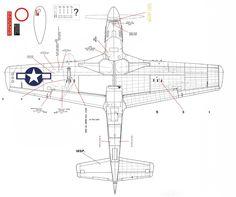 Resultado de imagen de p-51 stencils