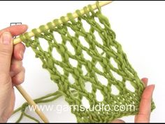 DROPS Knitting Tutorial: How to work an easy lace pattern used in DROPS 159-3 - YouTube