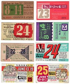 set of old Milwaukee bus passes via Erin Fuller