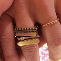 Stackable gold rings from Jade Trau? By GoldGirl puts them top of her wish list.