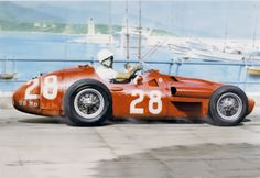 1956 GP Monaco, Monte Carlo. Stirling Moss in the Maserati 250F in which he won the race.