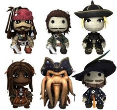 Pirates ~ the one in the middle on the bottom cracks me up! He was such an ugly character in the movie! Actually looks kind of cuddly and cute here! Polymer Clay People, Polymer Clay Art, Fimo Clay, Biscuit, Little Big Planet, Punch, Davy Jones, Pirate Life, Polymer Clay Creations