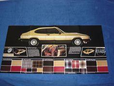 Ford Capri Mk3 3.0 2.0 1.6 1.3 S Ghia GL L Fold out Brochure Prospekt Rare
