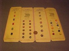 37 Vintage Antique Tiny Just Rite Diminutive Glass Sewing Trim Buttons Cards MOP