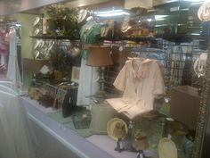 love mixinf home decor, clothing and jewelry for a display