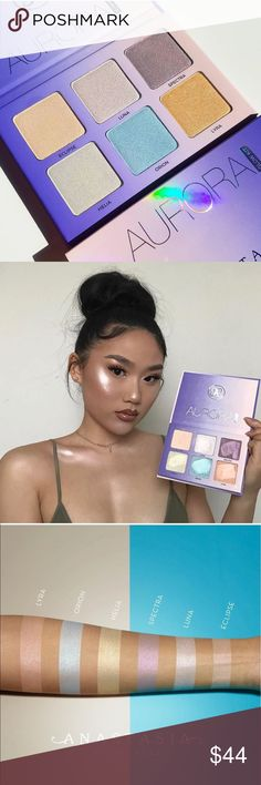 """ABH """"Aurora"""" Glow Kit!  Brand New (never touched) and Authentic as always!  This is the newest of the Glow Kits and has already became the most popular!!  FULL of PIGMENT and Gorgeous on ALL skin tones!!   Gifts with Purchase!!  Bundle and SAVE!!  More image to come soon! No rude comments please, there are posh fees and this a palette I paid full price for. Please note this palette is brand new and never touched. The images above are not from this palette. Anastasia Beverly Hills Makeup…"""