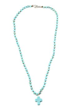 Chan Luu - Turquoise Cross Necklace, $105.00 (http://www.chanluu.com/necklaces/turquoise-cross-necklace/)