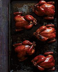 Soy-Ginger-Lacquered Cornish Hens - Just sub in Tamari to make it #gfree