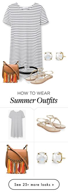 """Comfortable summer outfit ☀️☀️"" by fashionimagination on Polyvore featuring MANGO, Monsoon, Chloé and Irene Neuwirth"