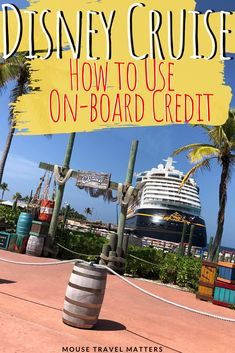 Disney Cruise Onboard Credit is basically free money that you get to spend during the course of your cruise vacation. We explain how it works. Disney Wonder Cruise, Disney Dream Cruise, Disney Cruise Ships, Cruise Tips, Cruise Travel, Cruise Vacation, Vacation Trips, Vacation Travel, Disney Destinations