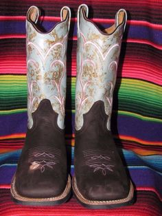 OLD WEST LADIES WESTERN BOOTS Brand New with Box Size 9.0M Cowboy Heel Boot Pull #OLDWEST #WESTERNBOOTS #ANY