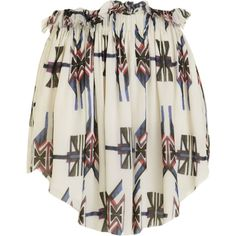 Isabel Marant Navajo Skirt - Ecru size 3 ($219) ❤ liked on Polyvore featuring skirts, bottoms, tops, isabel marant, women, navajo skirt, elastic waist skirt and isabel marant skirt