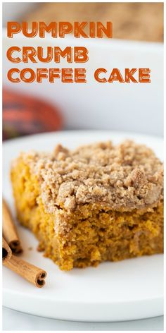 This Pumpkin Coffee Cake recipe tastes like fall. A cozy and generous mix of spices - cinnamon, ginger and nutmeg, along with a rich crumb topping make this coffee cake a perfect, seasonal treat. via @cmpollak1 Pumpkin Crumb Cake Recipe, Spice Cake Mix And Pumpkin, Pumpkin Cake Recipes, Pumpkin Butter, Cake Mix Recipes, Best Dessert Recipes, Egg Recipes, Drink Recipes, Fall Recipes